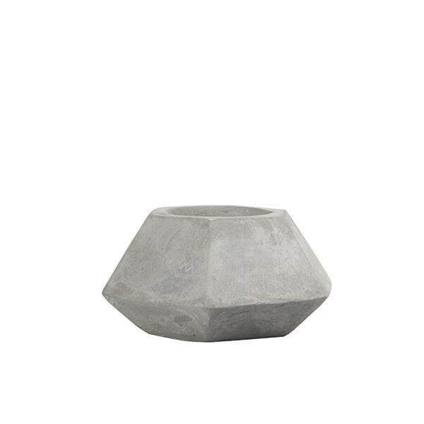 Cement Hexagon Tealight Candle Holder