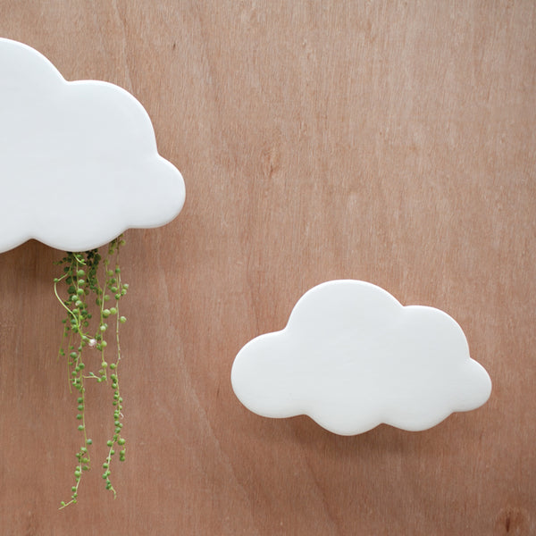 Planter Cloud White Wall Small