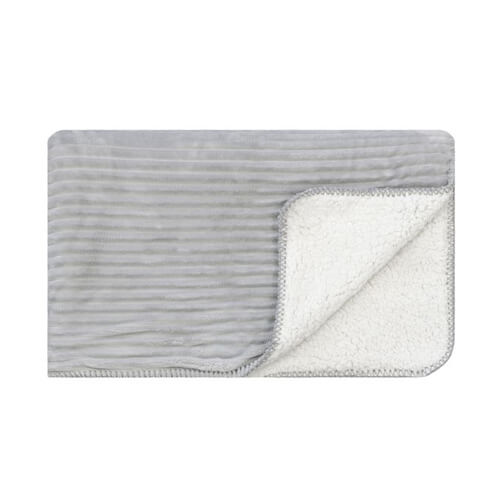 Cord Sherpa Stitch Glacier Grey Throw