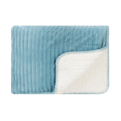 Cord Sherpa Stitch Nile Blue Throw