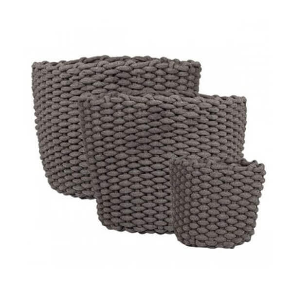 Crosby Grey Basket Set Of 3