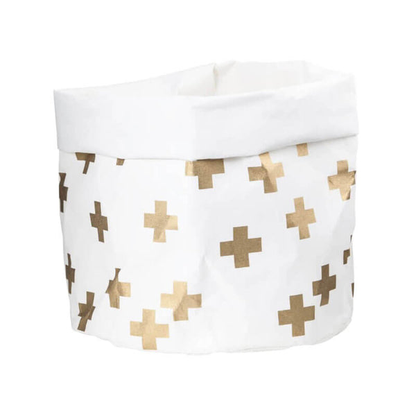 Gold Cross Large Wash Paper Bag
