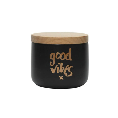 Good Vibes' Black & Gold Canister