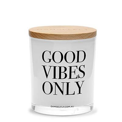 Good Vibes Only' XL Damselfly Candle