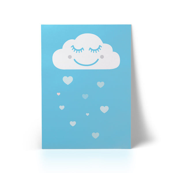 Print Happy Cloud Blue A3