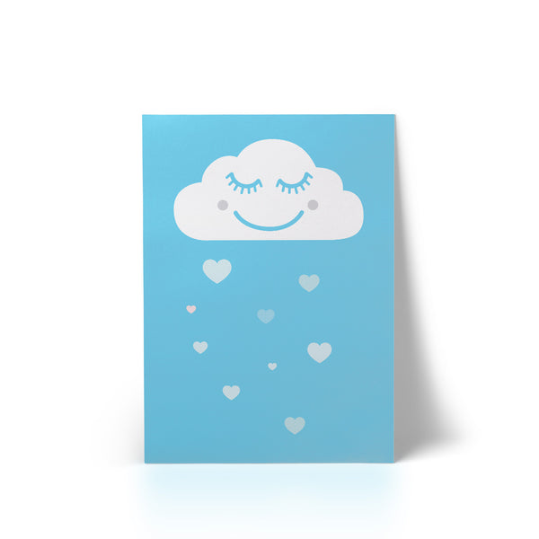 Happy Cloud Blue A4 Art Print