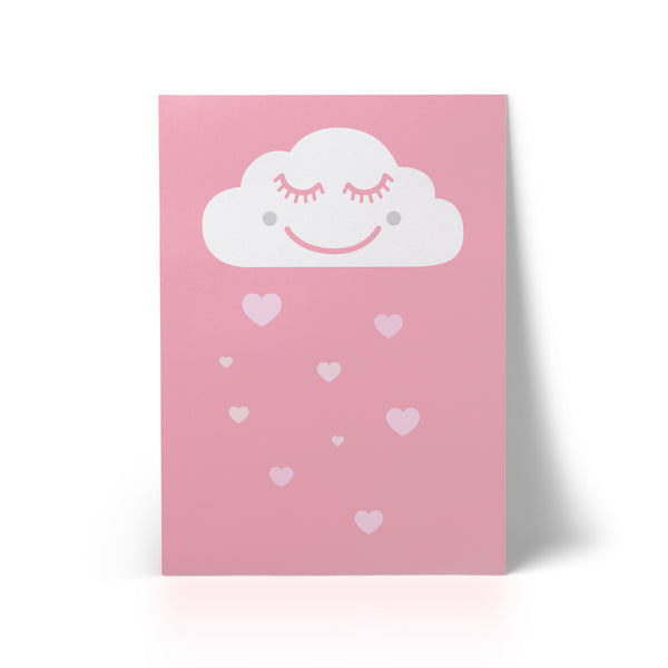 Print Happy Cloud Pink A3