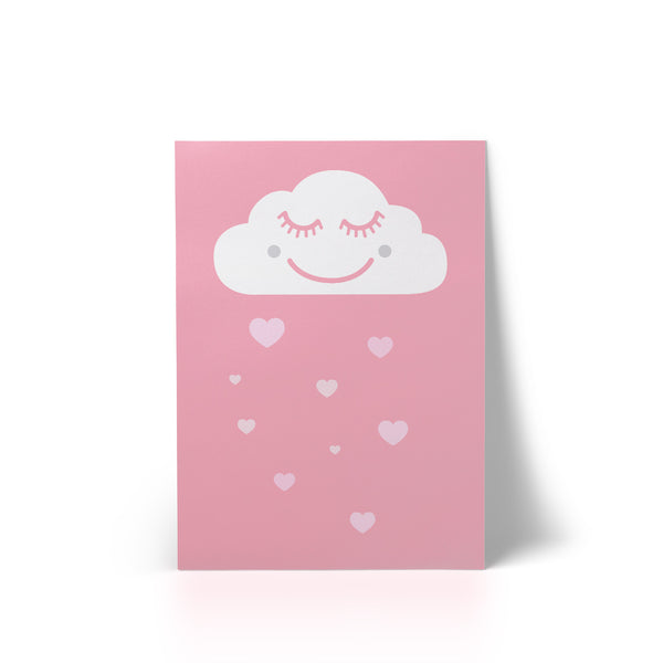 Print Happy Cloud Pink A4