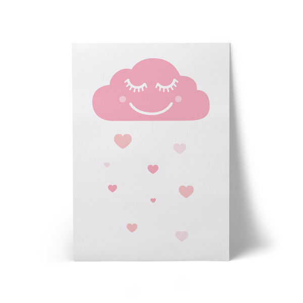 Print Happy Cloud White A3