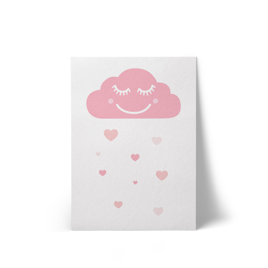 Print Canvas Happy Cloud White A4