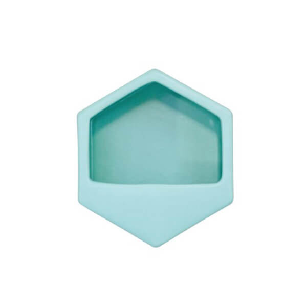 Hexagon Turquoise Small Wall Planter