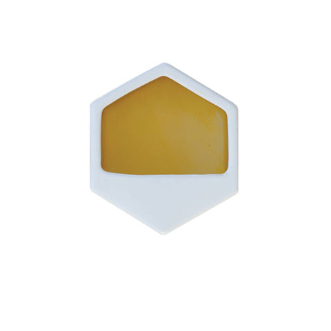 Hexagon Yellow Small Wall Planter