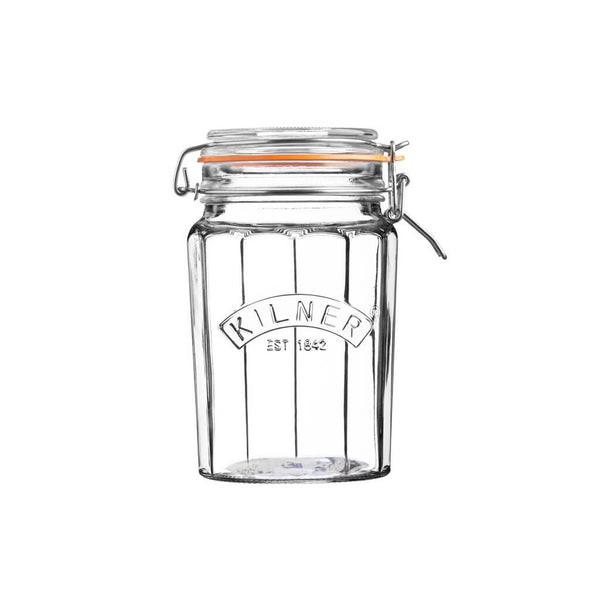 Kilner Faceted Clip Top (0.95Ltr) Jar