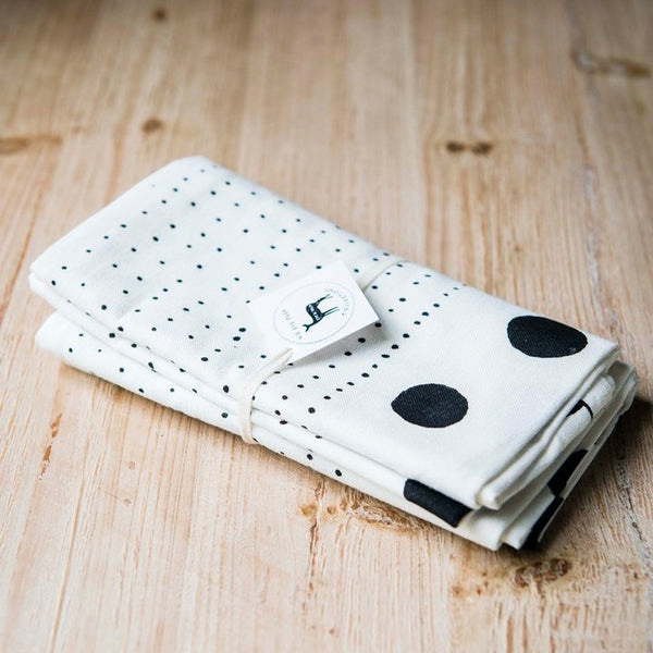 Lil Dot Linen Tea Towel Set Of 2