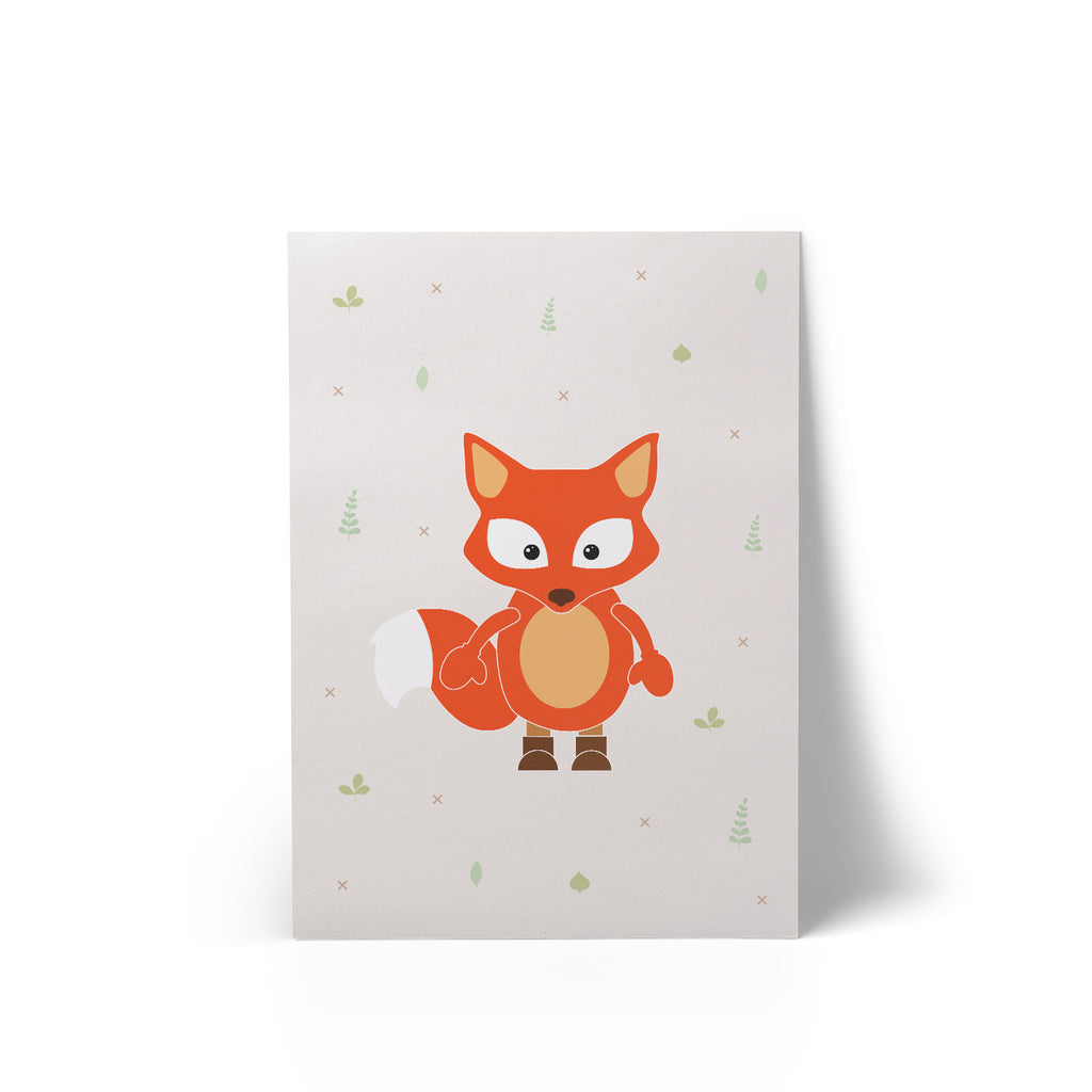 Little Fox A4 Art Print