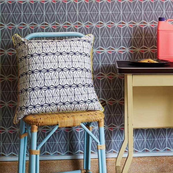 Cushion Cover Love Lattice Blue