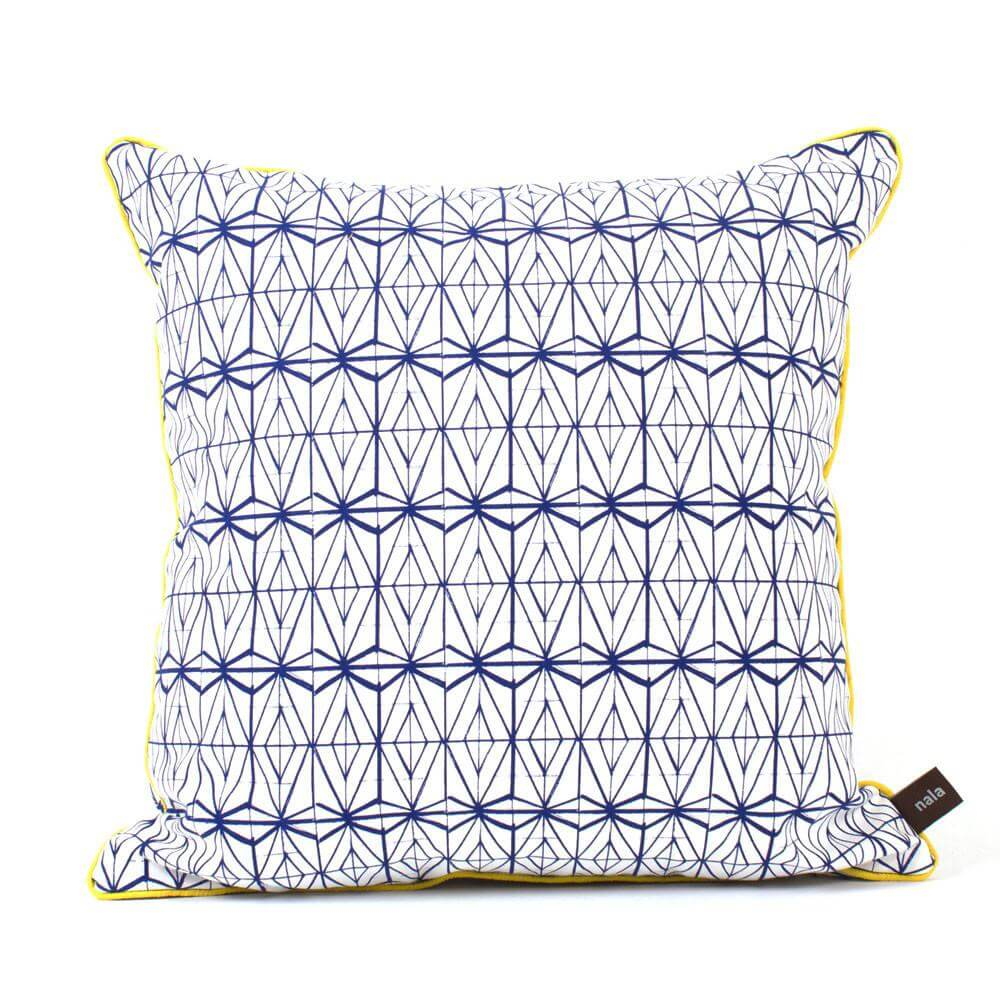 Love Lattice Blue Cushion Cover