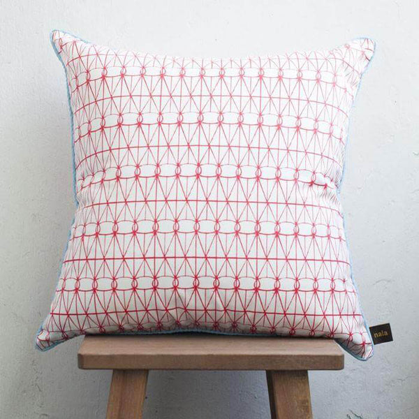 Cushion Cover Love Lattice Red