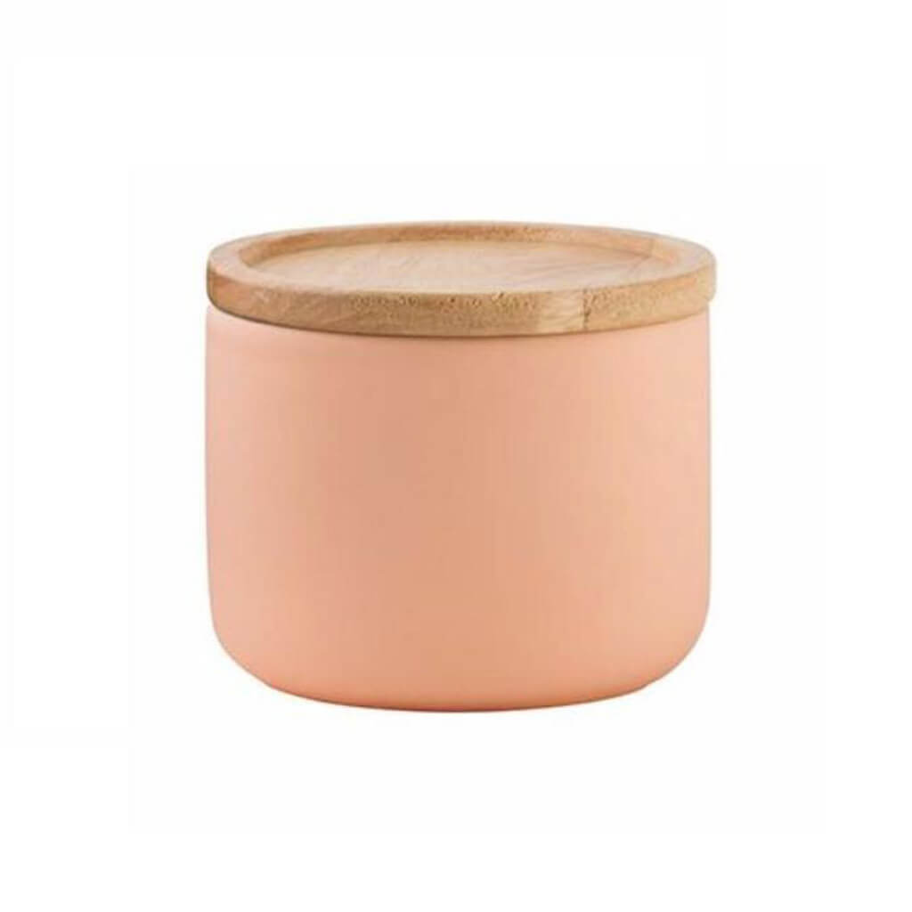 Matte Apricot Small Kitchen Canister