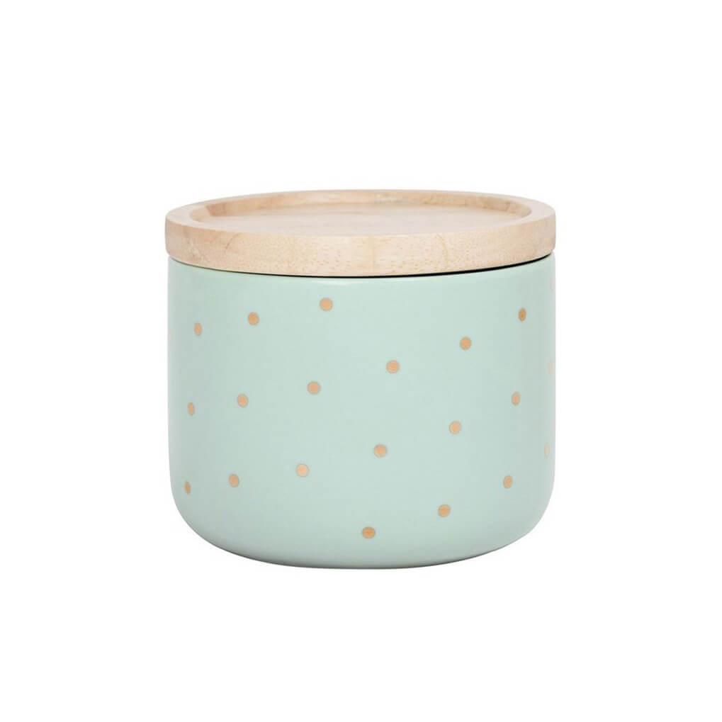 Mint Gold Spot Small Canister