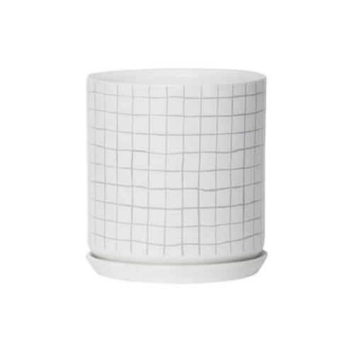 Oslo Grey Grid Extra Large Planter