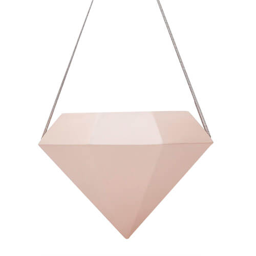 Peach Geometric Hanging Planter