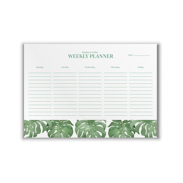 Weekly Planner Philodendron A4