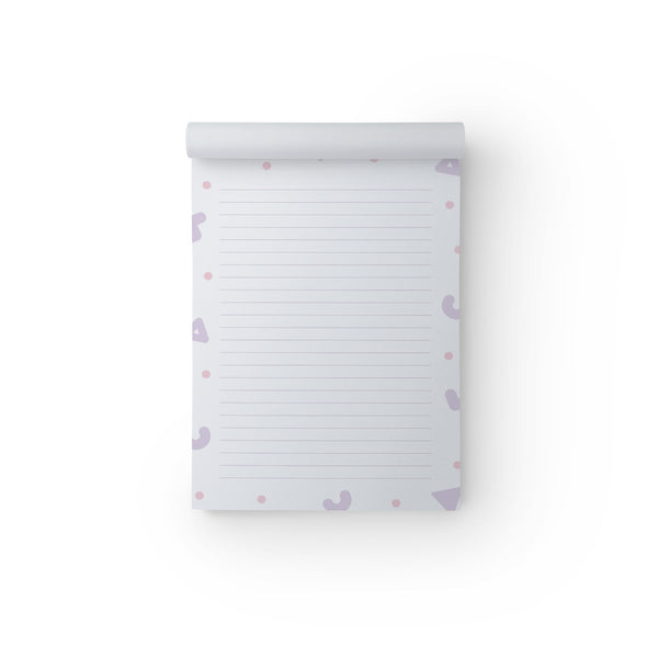 Notepad Purple Shapes A5