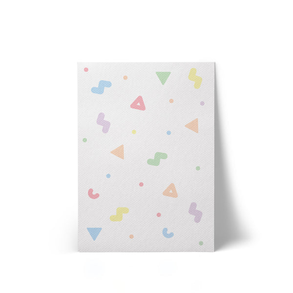 Print Canvas Rainbow Shapes A4