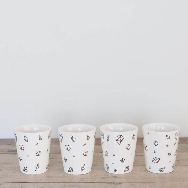 Random Geometry Pattern Cup Set of 4
