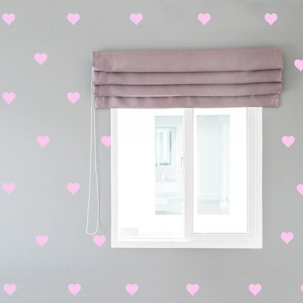 Soft Pink Hearts Wall Decals