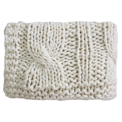 Superknit Cable Cream Throw