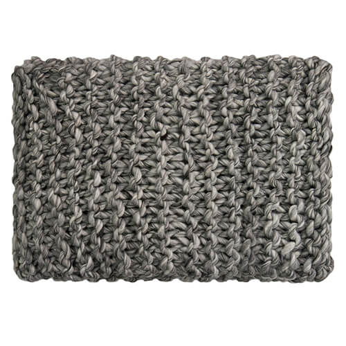 Superknit Stitch Grey Melange Throw