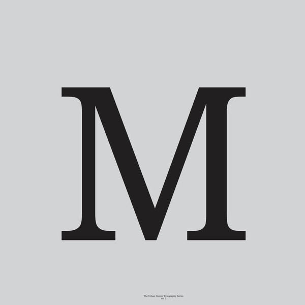 M' Typography Art Print Grey