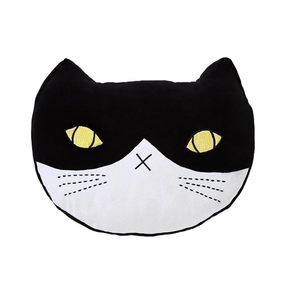 Velvet Cat Black & White Cushion