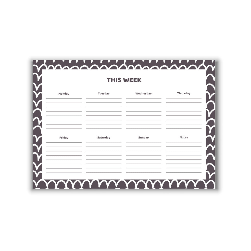 Weekly Planner White Waves A4