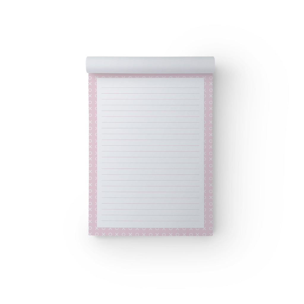 Notepad X & O Pink A5