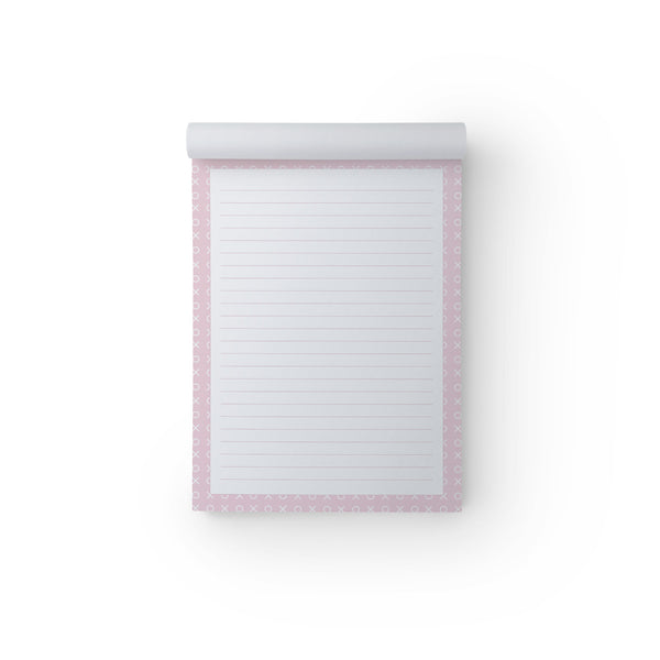 X & O Pink A5 Notepad