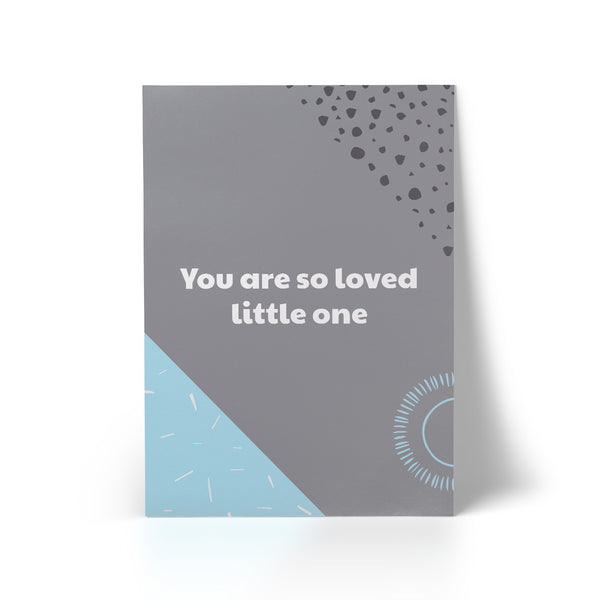 You Are So Loved Blue A3 Art Print