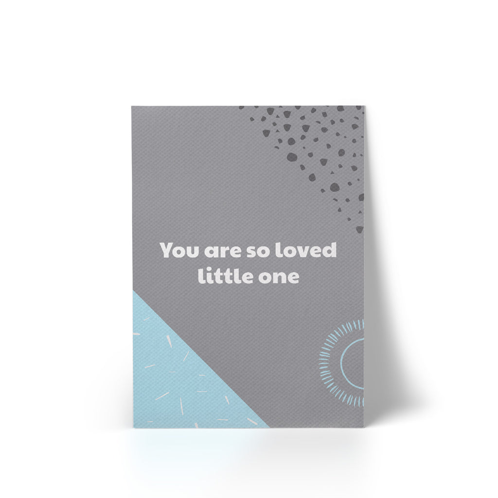 You Are So Loved Blue A4 Canvas Print