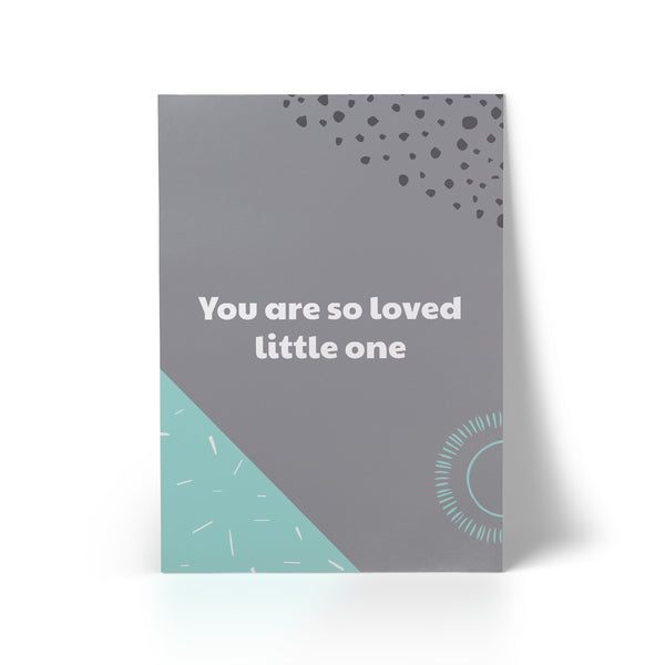 Print You Are So Loved Mint A3