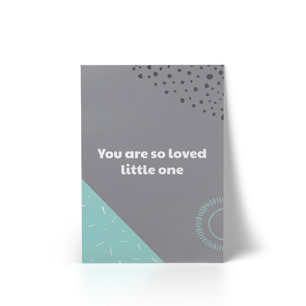 Print You Are So Loved Mint A4