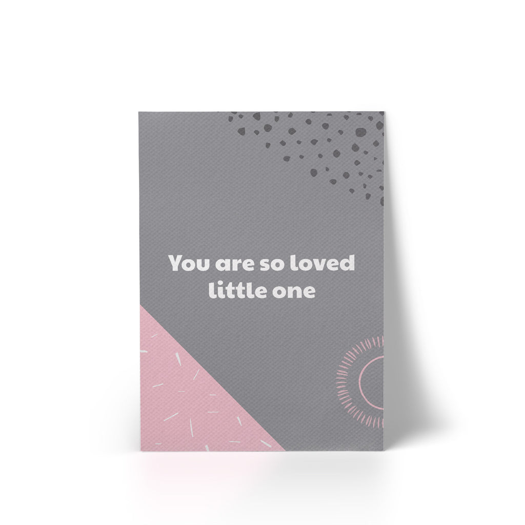 Print Canvas You Are So Loved Pink A4