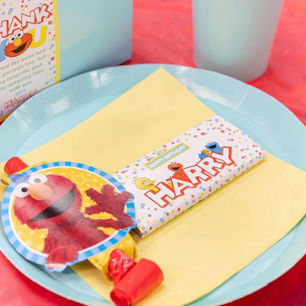 Personalised Sesame Street Elmo Chocolate Wrappers