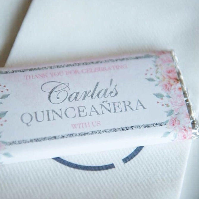 Personalised Floral Chocolate Wrappers