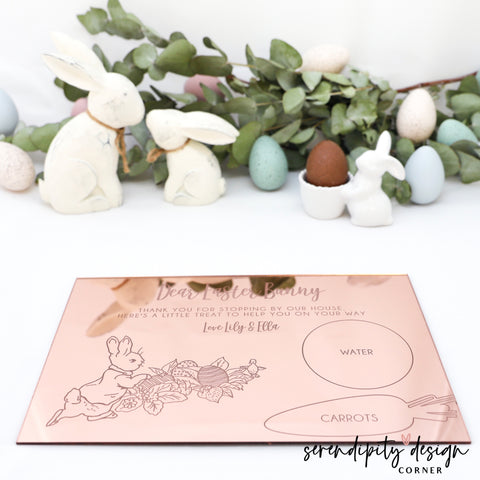 Personalised Easter Treat Board | Mirror Acrylic Finish Easter Treat Board