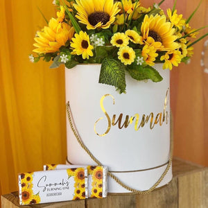 Personalised Sunflower Chocolate Wrappers