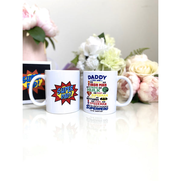 Personalised Mug - You Are My Superhero - Super Dad - Father's Day Mug