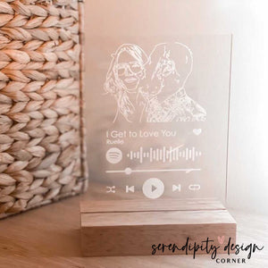 Line Art Illustration & Spotify Code Frame | Wedding Song