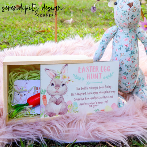 Easter Egg Hunt Game Cards & Box